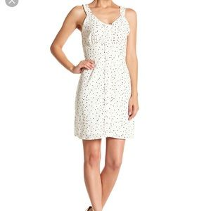 19 cooper Vneck cream and black stars dress. New
